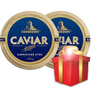 Siberian Sturgeon Caviar by Zarendom®  125 g, Buy one get...
