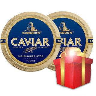 Siberian Sturgeon Caviar By Zarendom®  250 g, Buy one get...